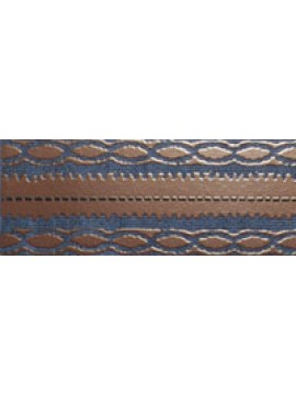 DAMASCO Dark Blue Border 8x25